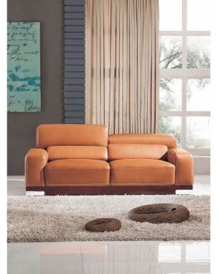 luca home contemporary honey italian leather sofa (luca home grey italian YXUEUSR