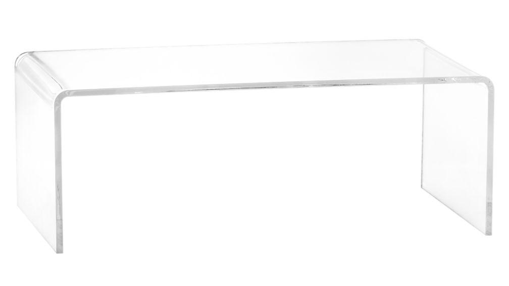 lucite coffee table peekaboo acrylic coffee table + reviews | cb2 BSOXJTA