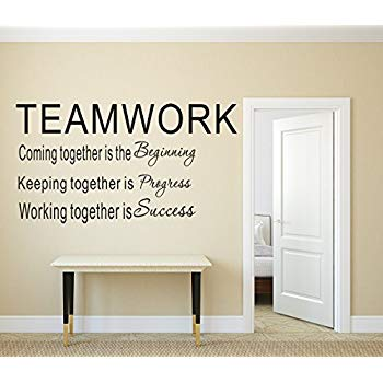 luckkyy large teamwork definition office vinyl wall decals quotes sayings MLCHJFK