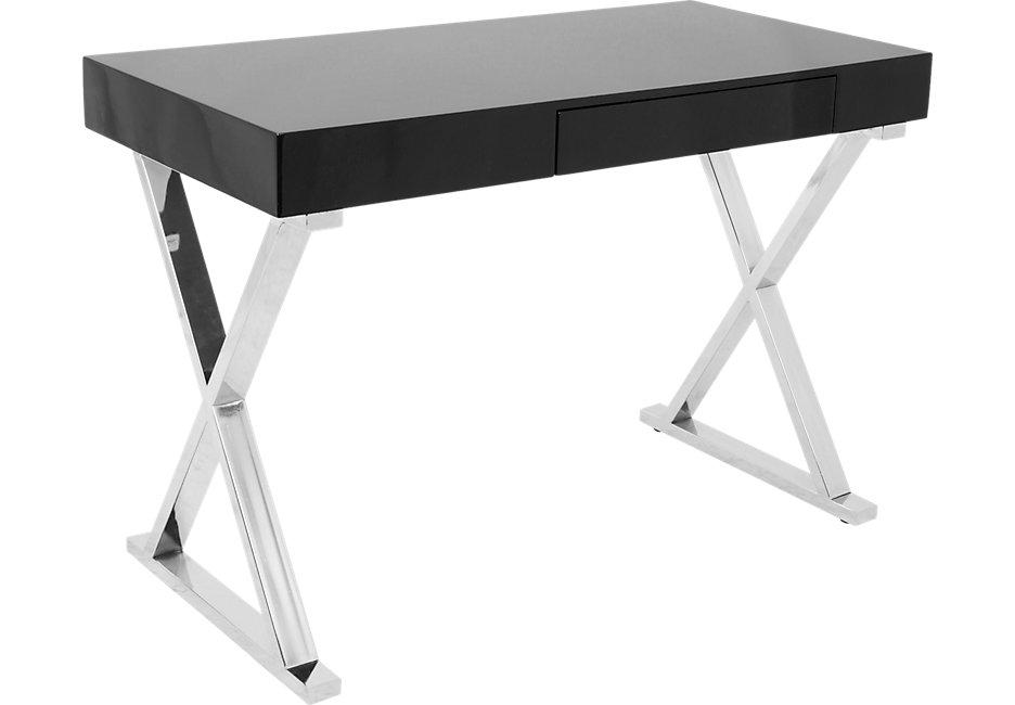 luster black desk - desks black DGRKFSG