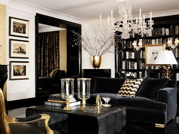 luxury gold and black furniture for modern interiors (14) black furniture STGZCFW