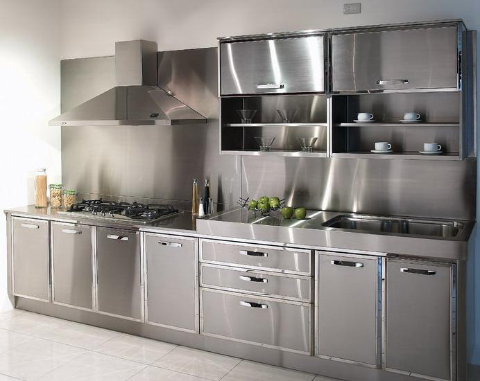 make your kitchen elegant and classy with stainless steel kitchen cabinets LZHKWJR