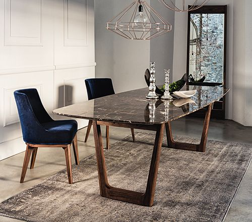 marble dining table dining table with emperador marble top and walnut base. | tables FVLRYCA