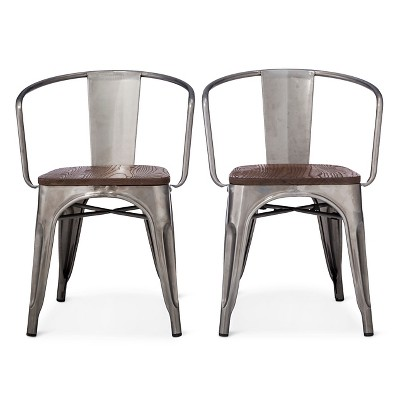 metal chairs carlisle metal dining chair - threshold™ : target COMPAZM