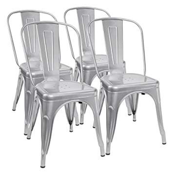 metal chairs furmax metal dining chair tolix style indoor-outdoor use stackable chic YLTFDBK