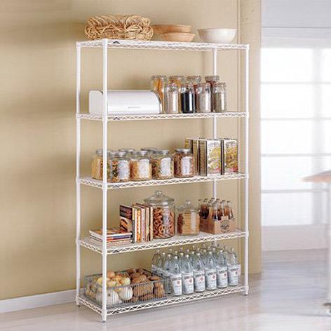 metal kitchen shelves - intermetro kitchen shelves | the container store QDFWKBK