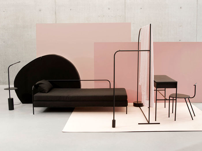 minimalist furniture the minimalist pieces of black furniture are designed to be configured VNIPCQK