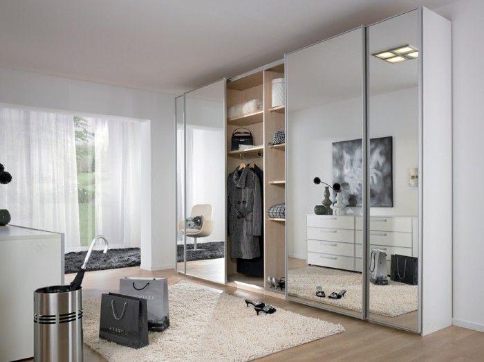 mirrored closet designs wardrobe design mirror front page white airy curtains WQYPGMO