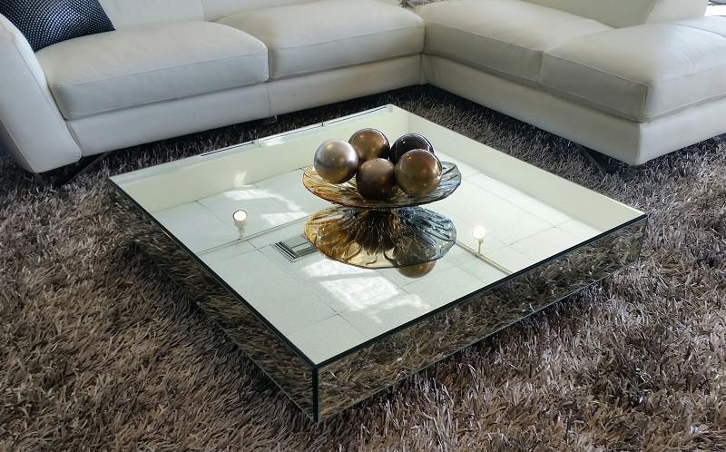 mirrored coffee table square mirrored contemporary coffee table JGIAZIO