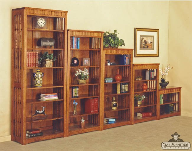 mission furniture mission bookcase solid oak portland furniture ... SXRNXDJ