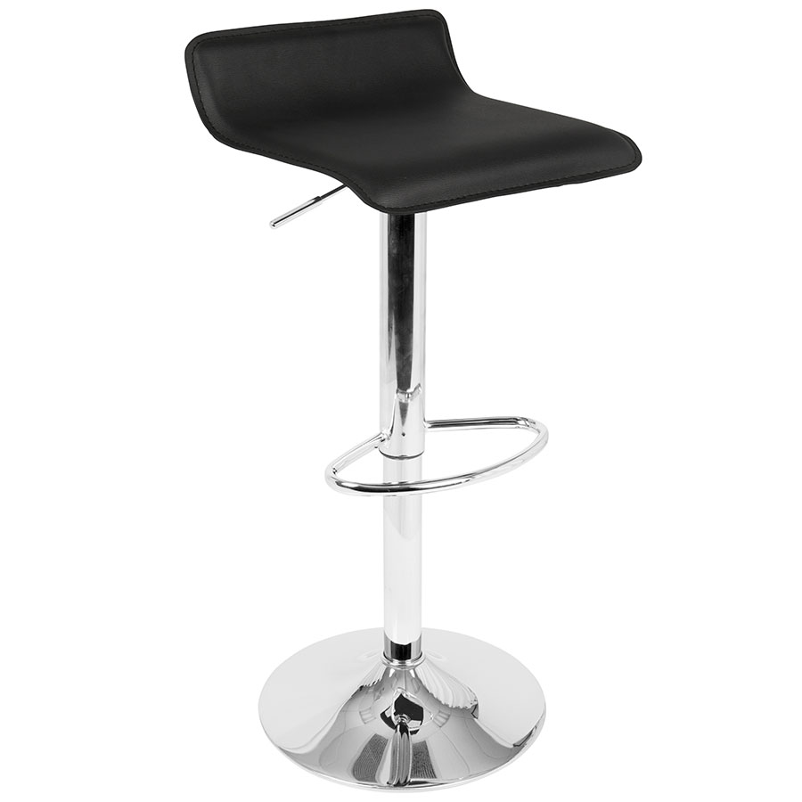 modern bar stools andrew adjustable black modern bar stool HTRDMHC