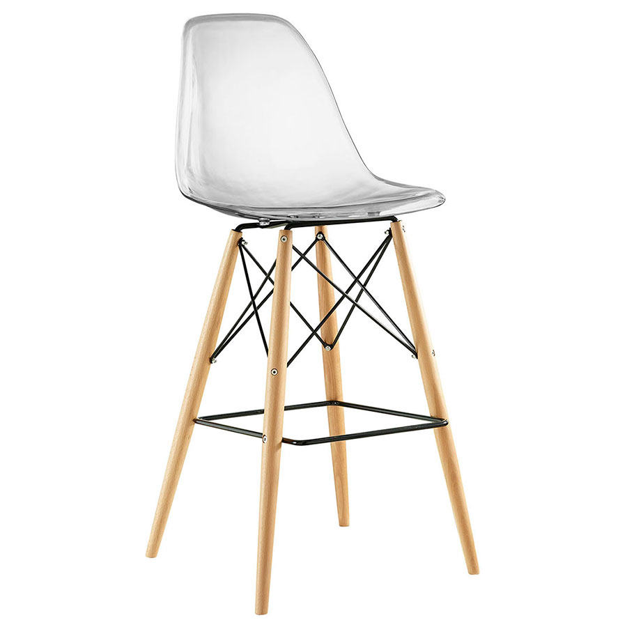 modern bar stools call to order · truss clear mid-century modern bar stool WNABXPR