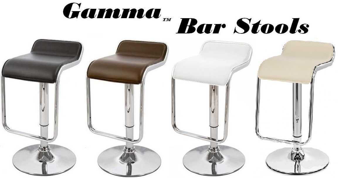 modern bar stools gamma modern adjustable bar stools - set of 2 FDEUNWM
