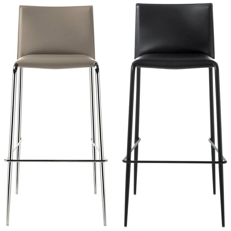 modern bar stools italian modern bar stool made of leather, made in italy, new DMTBYKC