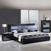 modern bedroom sets manhattan bedroom in black by global w/platform bed u0026 options ZZYRUJD