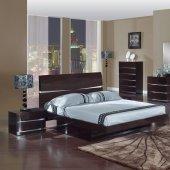 modern bedroom sets wenge finish modern stylish bedroom w/optional casegoods MAOCXRK