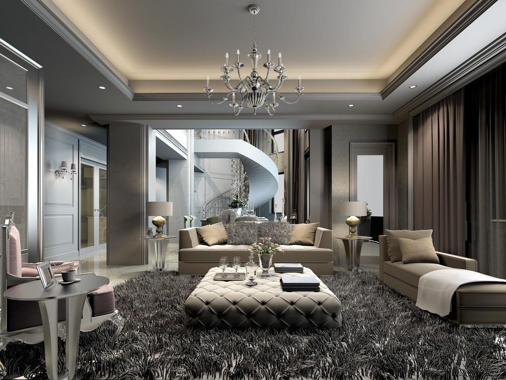 modern creative living room design rendering house AFFSULB