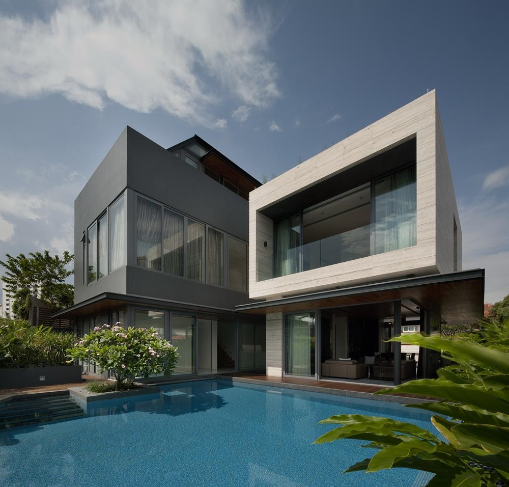 modern house design modern dark and bright facade JNKZXXC