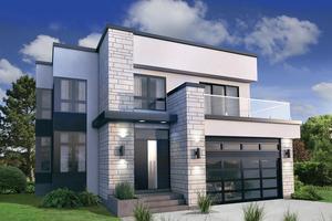 modern house design modern exterior - front elevation plan #25-4415 PDRNQPX