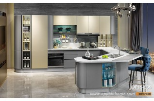 modern kitchens modern golden and grey lacquer kitchen cabinet op15-036 QRRQLOJ