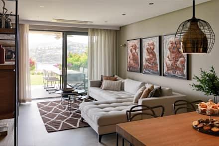 modern living room ideas gundogan summer house: modern living room by esra kazmirci mimarlik MUHQPOZ