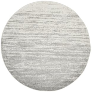 modern round rugs mcguire ivory/silver area rug XPVNOLV