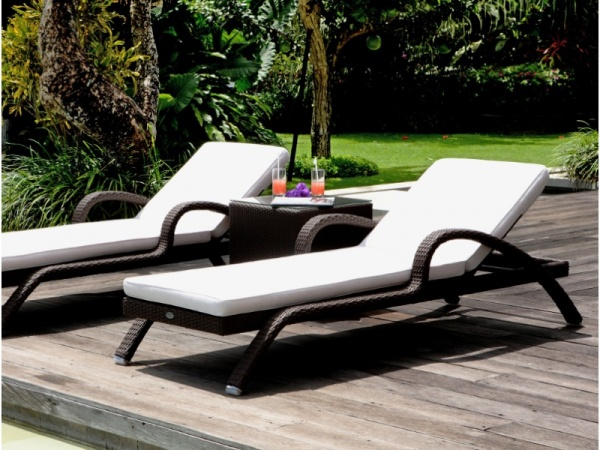 modern sun loungers luxury sky line design imperial sun lounger with woven frame NAUFUMY