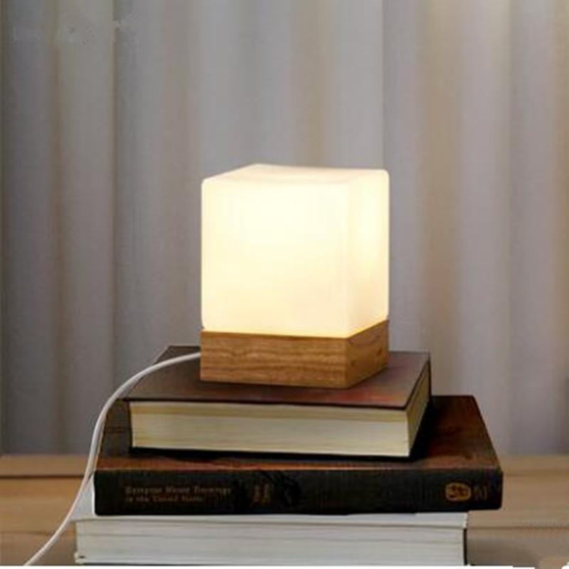modern table lamps 2018 modern table lamp wood base and white square glass lamp PEJHZCA