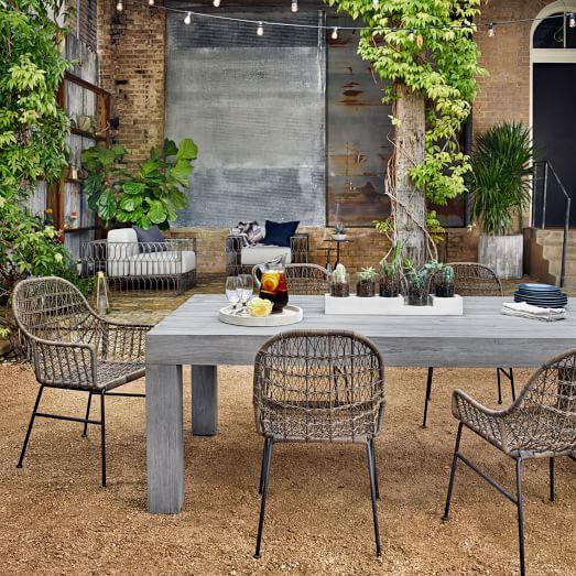 modern teak outdoor dining table BTLHPSO