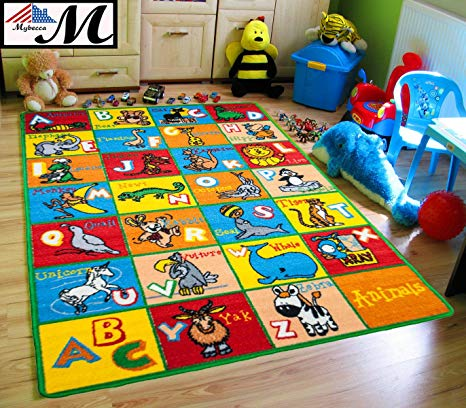 mybecca kids rug alphabet animals 3u0027 x 5u0027 children abc area LJAKGTZ