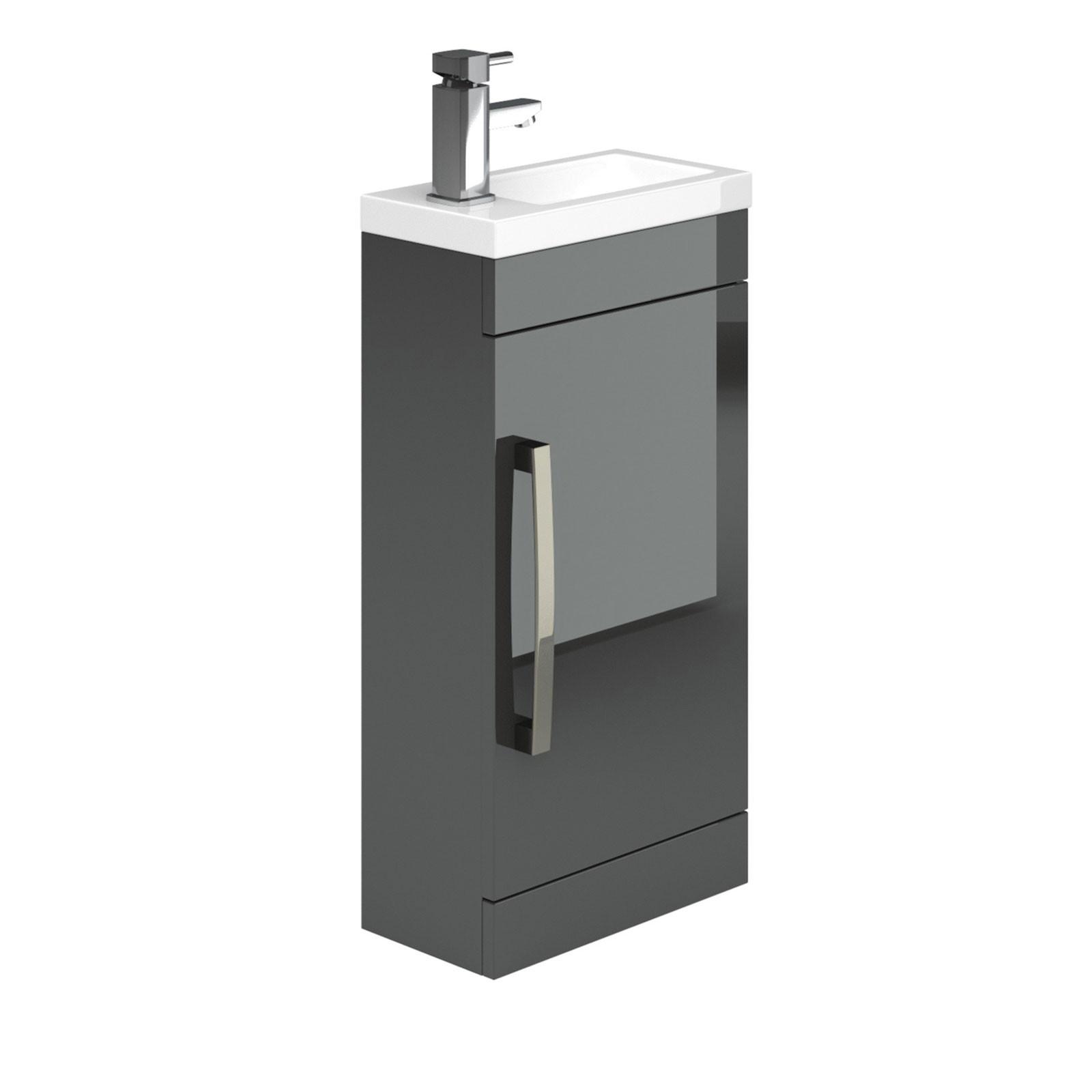 nante floor standing cloakroom vanity unit u0026 basin - anthracite grey CFOTRXT
