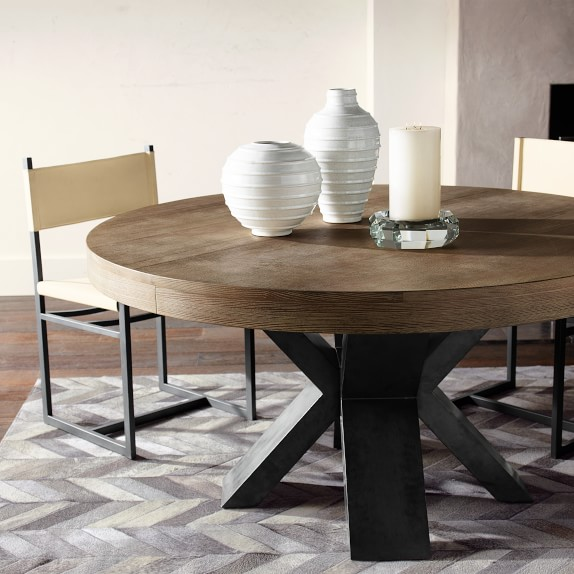 navarro round dining table | williams sonoma TMIMSWQ