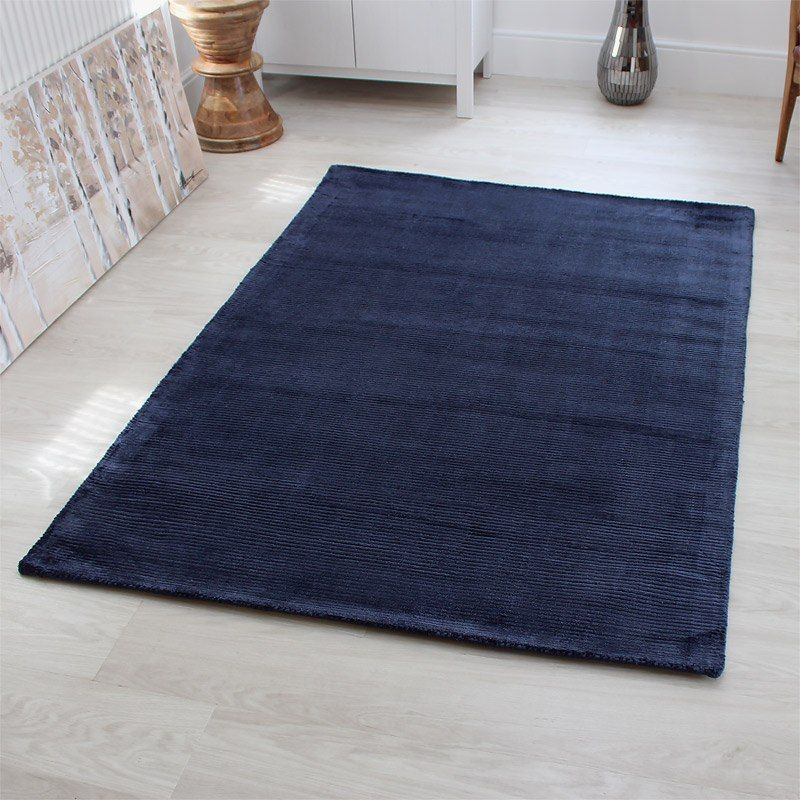 navy blue rug custom sizes are available on request with stocked sizes in small LMQBSNV