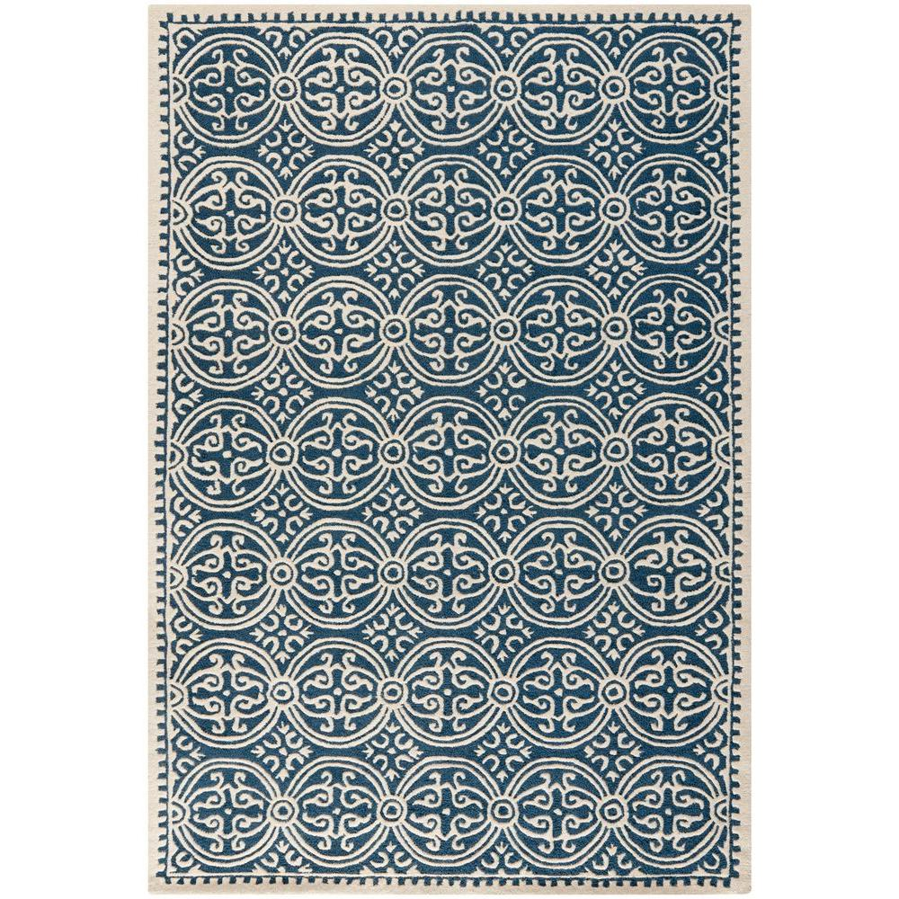 navy blue rug safavieh cambridge navy blue/ivory 5 ft. x 8 ft. area rug IVVPUIQ