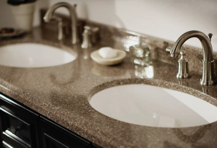 need new bathroom countertops see what vanity top surface materials are UYPMBXL