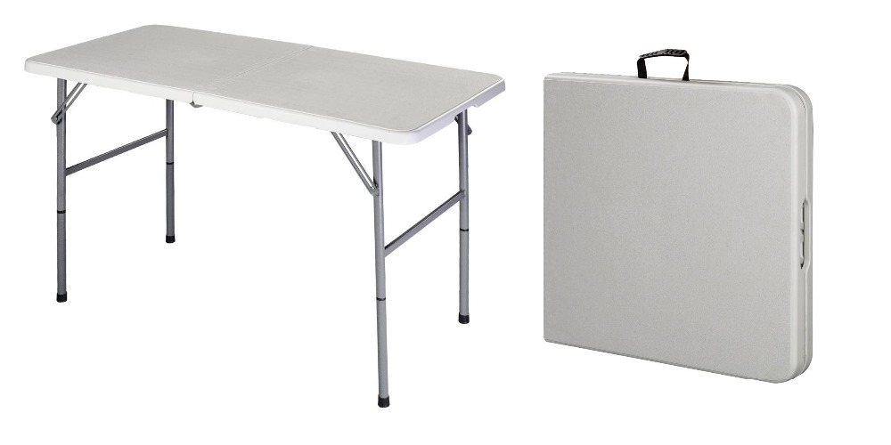 new powder coated steel frame portable folding table foldable picnic table IKEWRBM