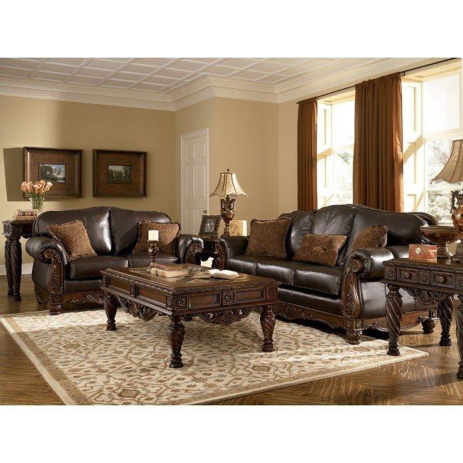 north shore - dark brown living room set OCINJAG