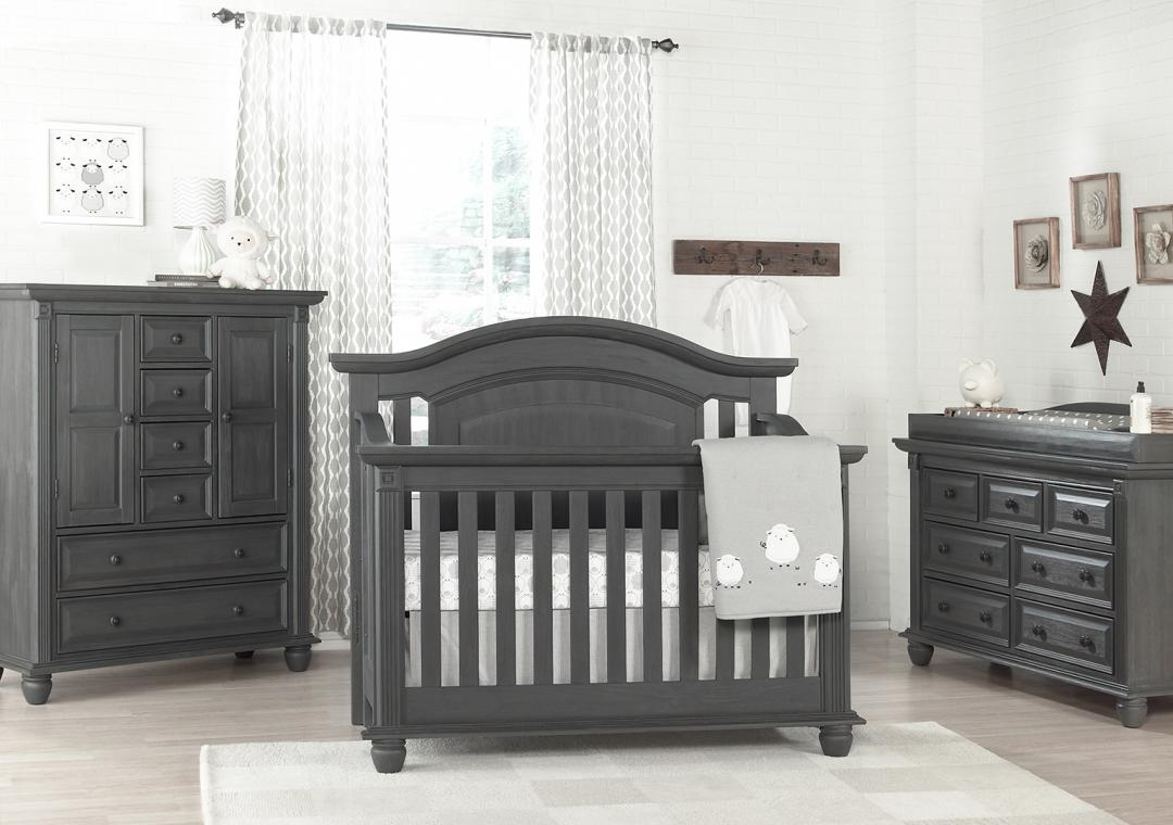 nursery furniture sets london lane - arctic gray hzdxapm DELXNIE