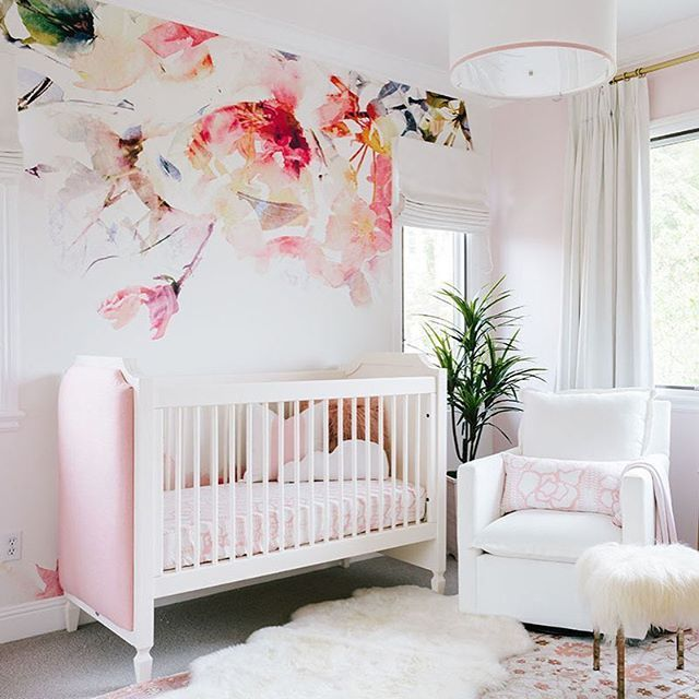 nursery ıdeas pink, floral and oh-so-dreamy wallpaper! take the full tour of the XQFSSQE