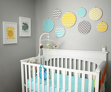 nursery ıdeas yellow and teal nursery XRPOKAC