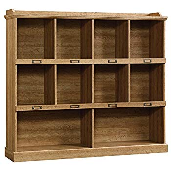 oak bookcase sauder barrister lane bookcase, scribed oak finish SHPUTVA