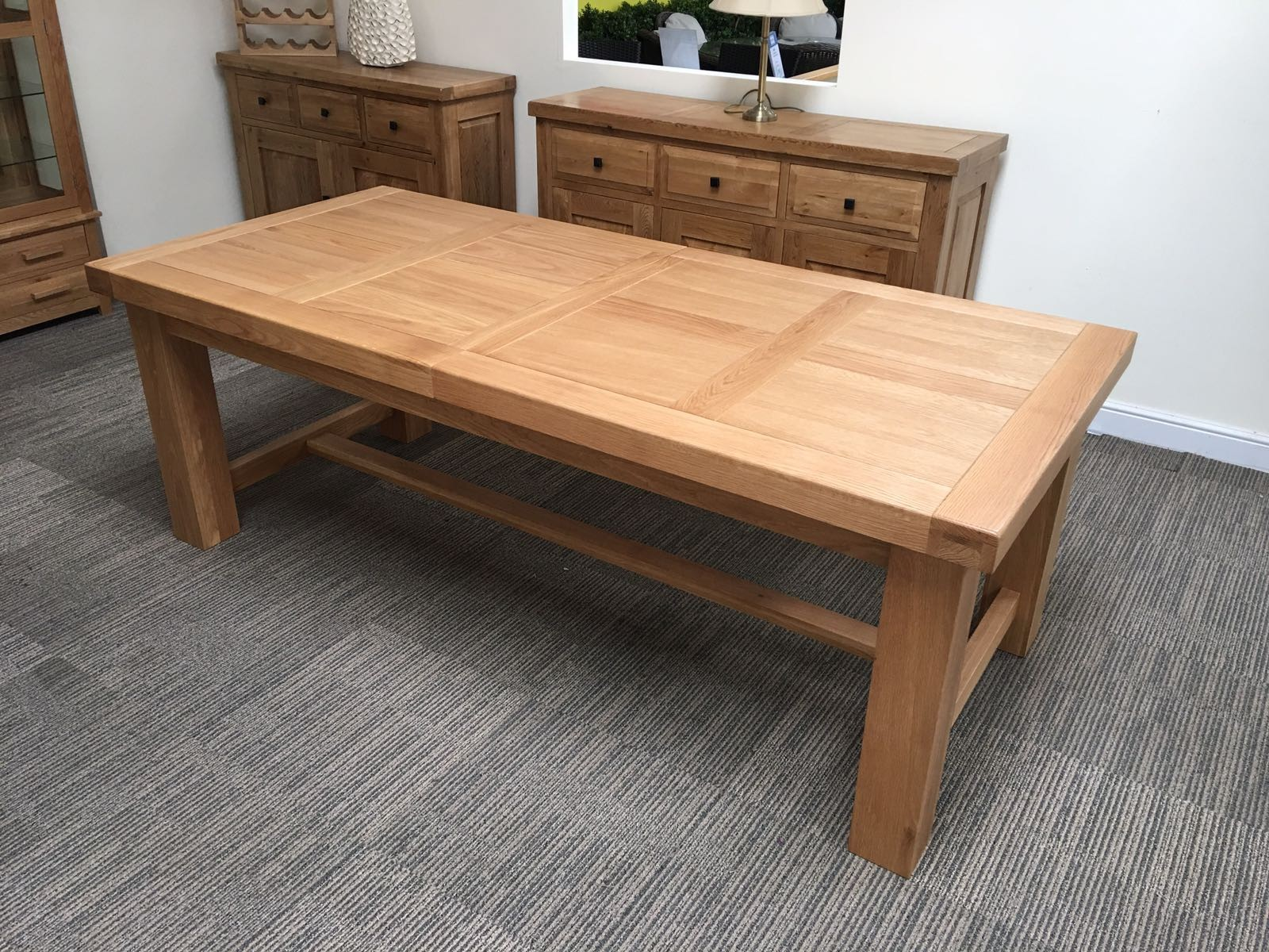 oak table engaging oak extending table 14 oakita vienna solid dining 38 living MQURMDP