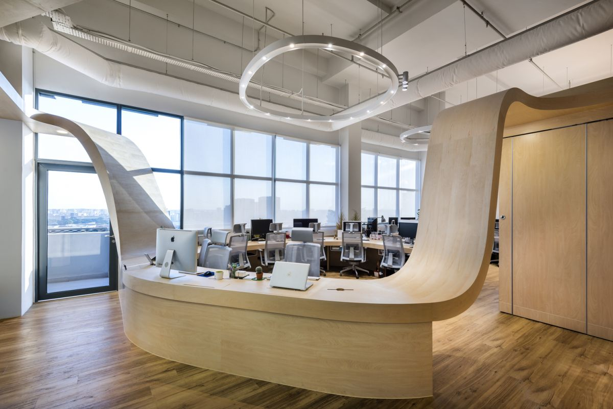 office design ideas creative office defined by a single piece of furniture OJMKSZA