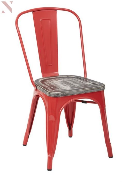 office star brw299a2-c306 bristow metal red chair with wood seat-(pack of RIWXIKL