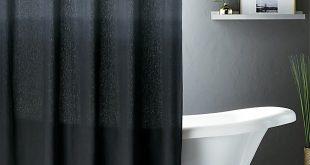ombre black shower curtain + reviews | cb2 NDKJBHV