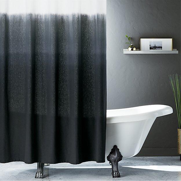 Aesthetics black shower curtain