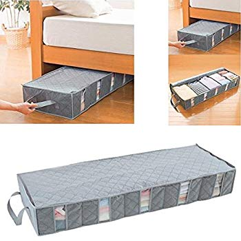 ounona 53l foldable clothes storage bags under bed storage containers space UNQBTIS