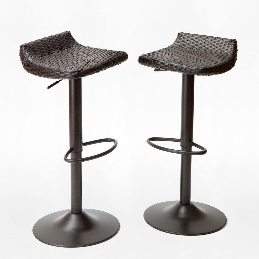 outdoor bar stools rst brands woven wicker patio bar stool (2-pack) TTWVNGP