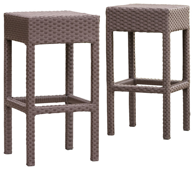 outdoor bar stools rudolfo 2-piece outdoor backless bar stool set HVBYPZY