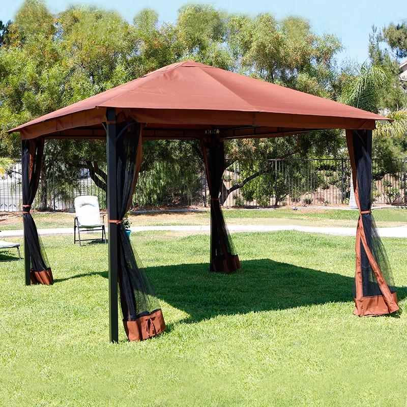 outdoor canopy 10u0027 x 12u0027 outdoor backyard regency patio canopy gazebo tent, with MDFQNSH
